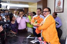 Dr. Mahendra Nath Pandey assumes office as Cabinet Minister Image-02