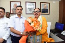 Dr. Mahendra Nath Pandey assumes office as Cabinet Minister Image-04
