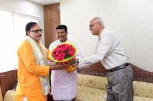 Dr. Mahendra Nath Pandey assumes office as Cabinet Minister Image-06